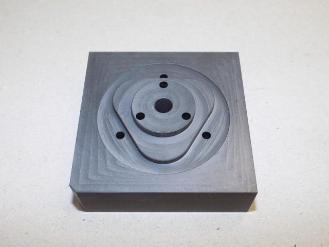graphite braze fixture- top