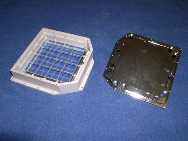 PEEK housing, SST backplate and aluminum grid support
